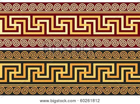 Vector Frieze With Greek Ornament (meander)