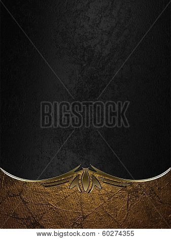 Design template - Gold rich texture with black edges and gold trim poster
