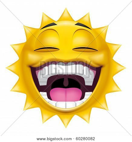 Sun Character Laughing