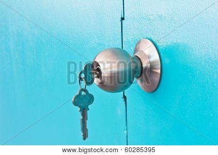 Background Of Door Green Lock