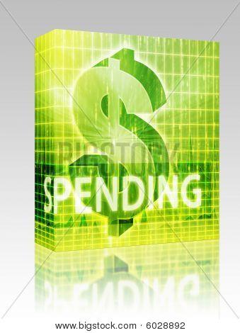 Spending Finance Illustration Box Package