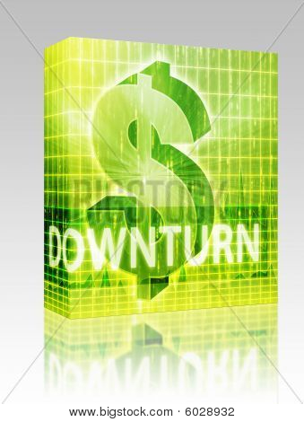 Downturn Finance Illustration Box Package