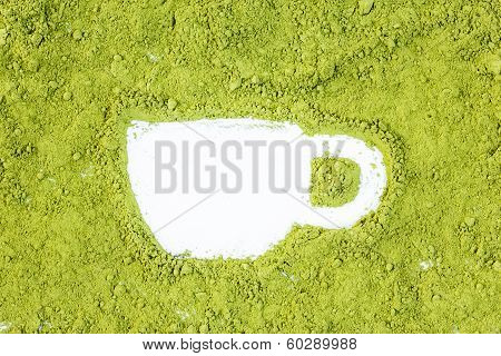 green powder forming cup shape surface