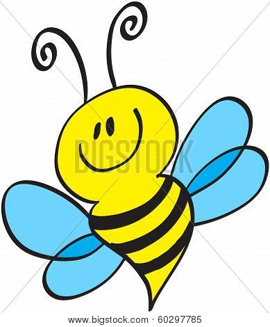 Nice little bee posing and smiling