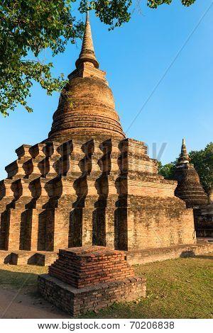 Ruins Of Buddhist Stupa Or Chedi