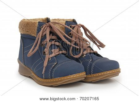 Blue Children`s Boots