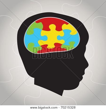 Child Autism Silhouette Illustration