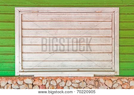 White Wooden Shutter Of Window