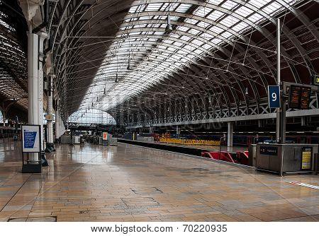 Platform At Paddington Station, London