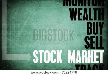 Stock Market Core Principles as a Concept Abstract poster