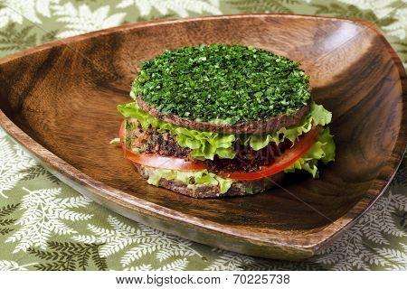 raw food burger