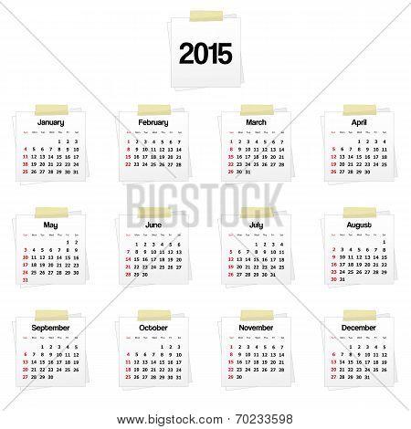 Calendar 2015 On reminders