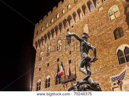 View Of Piazza Della Signoria In Florence, Italy