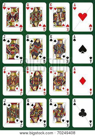 Poker High Cards - Stock Illustration