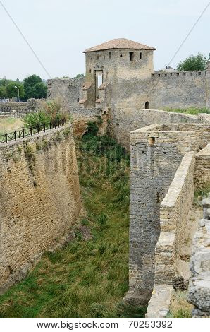 Moat And Kiliya Gate Of Medieval Turkish Fortress Akkerman, The Biggest Fortification In Ukraine