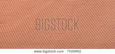 Roof covered with the red roof tile poster