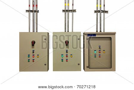 Electric System In Cabinet  Building System Isolated Background