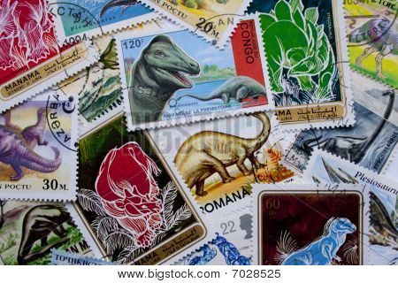 World Stamps: Dinosaurs