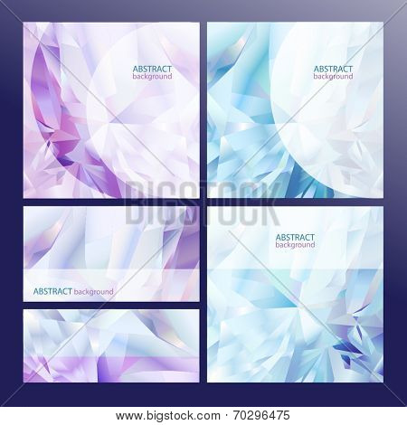 Collection of geometric shape diamond abstract backgrounds