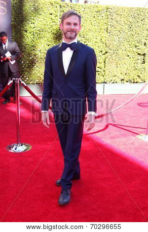 LOS ANGELES - AUG 16:  Dominic Monaghan at the 2014 Creative Emmy Awards - Arrivals at Nokia Theater on August 16, 2014 in Los Angeles, CA