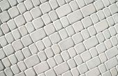 patterned paving tiles cement brick floor background poster
