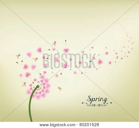 Spring background vintage