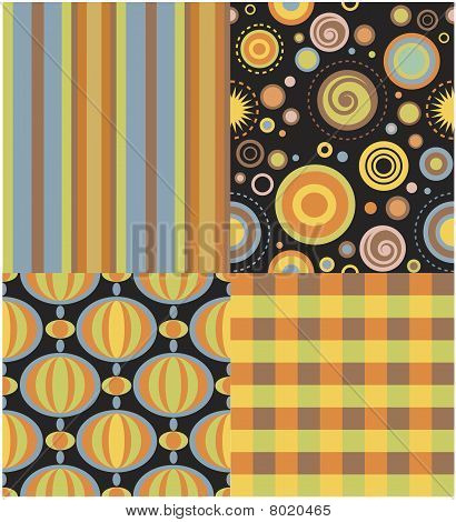 retro repeating pattern set with lotsa pattern swatches