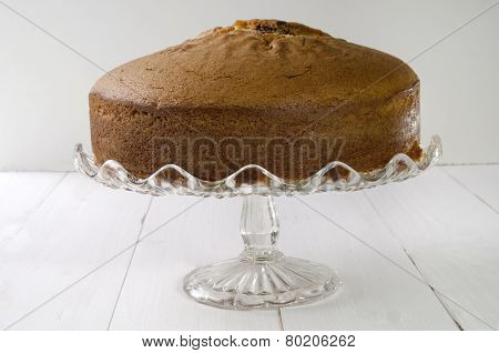 Chocolate Swirl Cake On A Cakestand