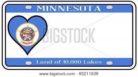 Minnesota License Plate