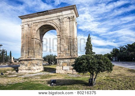 Triumphal Arch Of Bara In Tarragona, Spain.