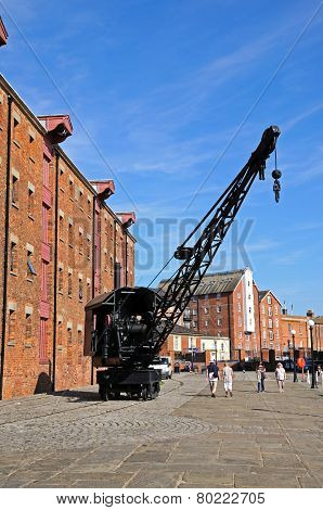 Crane at Gloucester Docks.