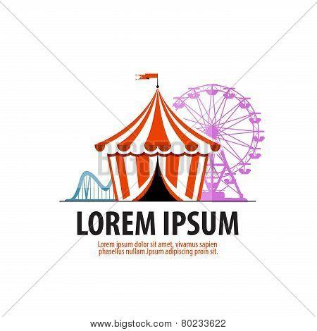 circus vector logo design template. attraction or fair icon.
