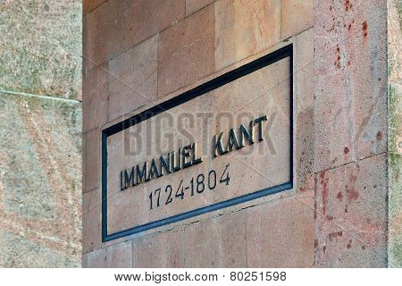 Tomb Of Immanuel Kant. Kaliningrad (former Konigsberg), Russia
