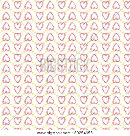 Seamless Heart Pattern Love