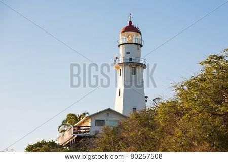 Diamondhead Lighthouse Near Sunset