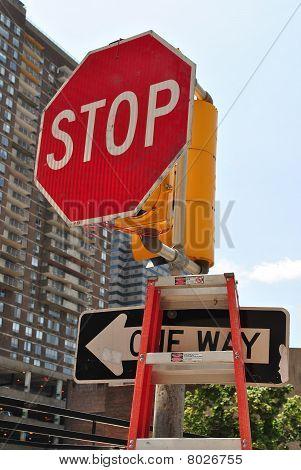 Broken traffic light