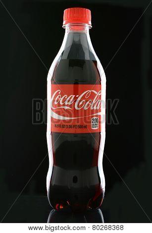 Coca-cola Bottle On Black