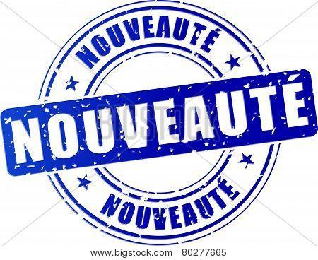 Novelty Blue Design Stamp