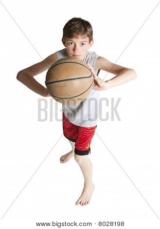Youth Passing Basketball