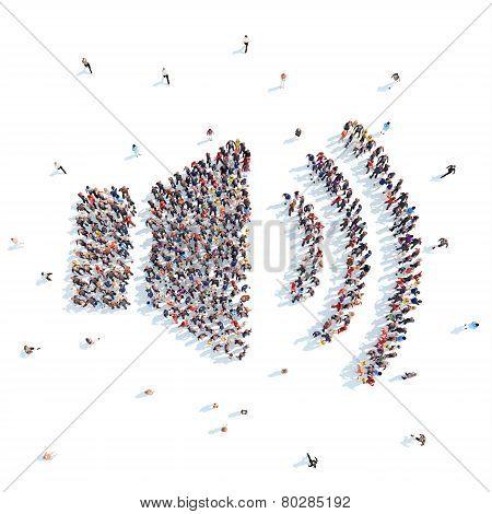 People in the form of speaker volume.