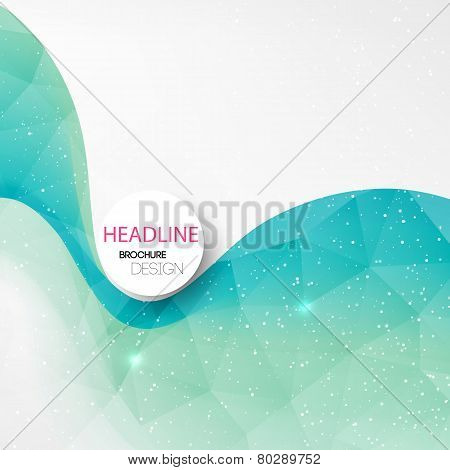 Abstract lines background. Template brochure design