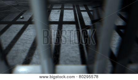 Jail Cell Bars Cast Shadows