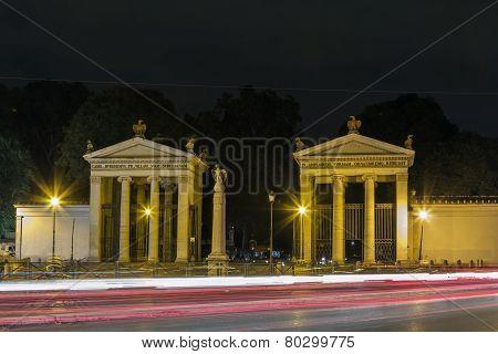 Neoclassical Propylaea, Rome