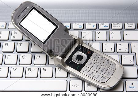 Cell Phone And Notebook