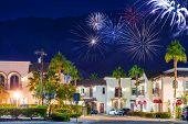 La Quinta Fireworks California United States. La Quinta Old Town Holidays New Year Event Fireworks. Coachella Valley. poster