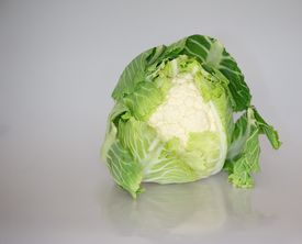 Cauliflower on shiny background