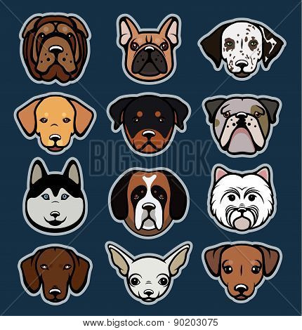Dogs vector collection