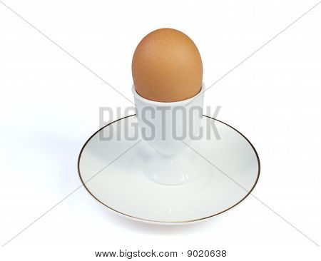 Egg In White Eggcup