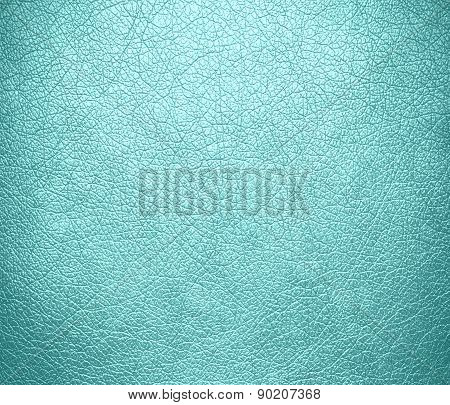 Celeste color leather texture background