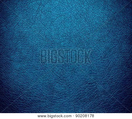 Cerulean color leather texture background